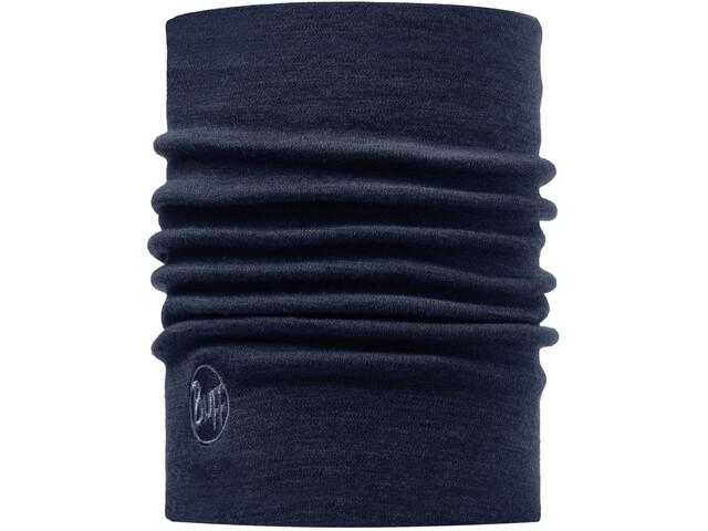 Buff Heavyweight Merino Wool Neck Tube solid denim